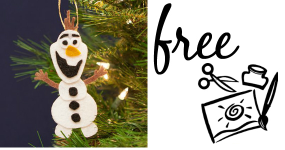 Create Your Own Olaf Ornament