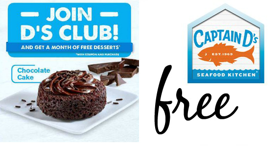 Free Dessert From Captain D's