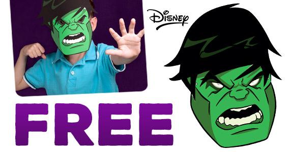 Free Printable Hulk Mask