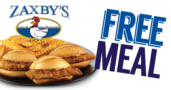 Free Meal From Zaxby's