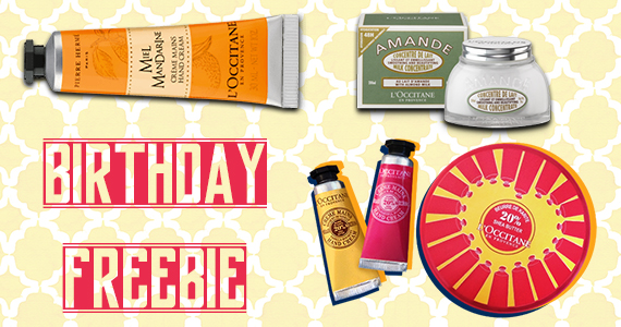 Birthday Freebie From L'OCCITANE