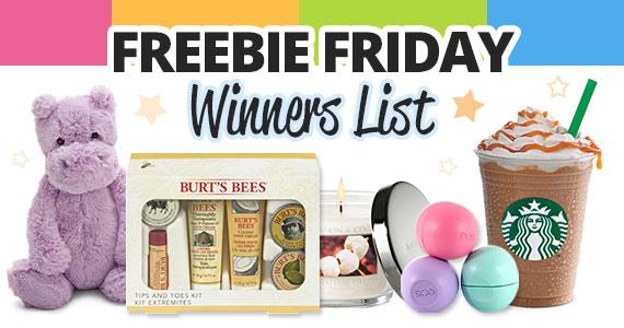 The WomanFreebies Freebie Friday Winners List