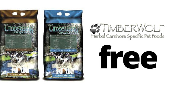 Free Timberwolf Dog Food Sample