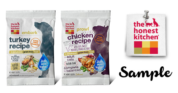 Free Dog Or Cat Food Sample From The Honest Kitchen