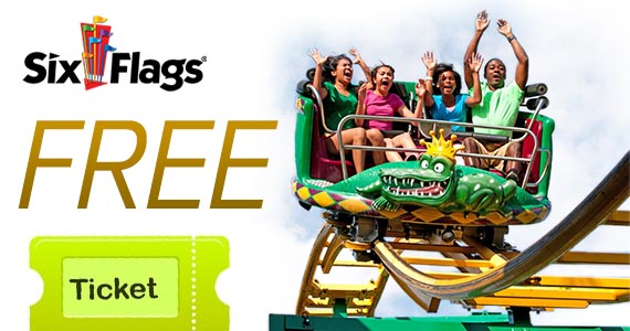 Free Kid's Ticket To Six Flags