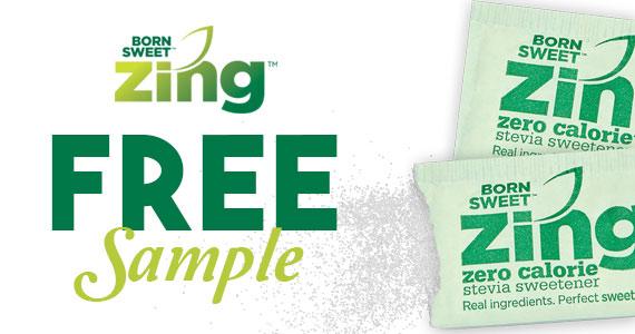 Free Sample Of Zing Zero Calorie Stevia Sweetener