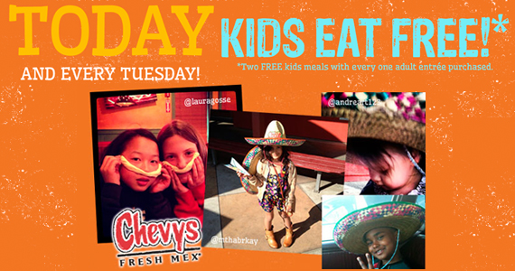 Kid's Eat Free Every Tuesday At Chevys