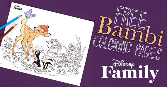 Free Bambi Coloring Pages