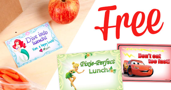 Free Printable Disney Lunch Notes