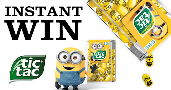 Instant Win Free TicTac Minions