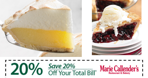 Get 20% Off At Marie Callender's + Special Offers