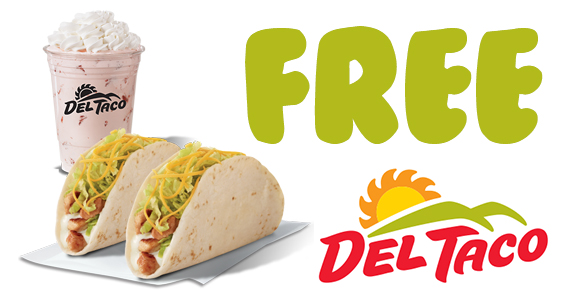 Join Del Taco's EClub for 2 Free Chicken Tacos