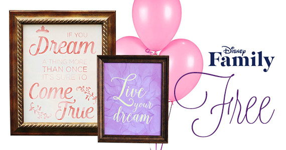 Free Disney Princess Party Quote Posters