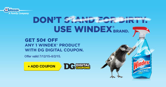 Get 50¢ off Any Windex® Product at Dollar General
