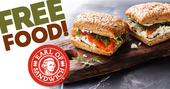 Free Food From Earl Of Sandwich