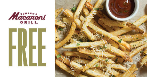 Free Parmesan Truffle Fries From Macaroni Grill