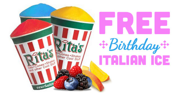 Free Rita's Italian Ice For Your Birthday