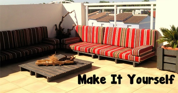 Make Your Own Picnic Shade & Pallet Patio Furniture