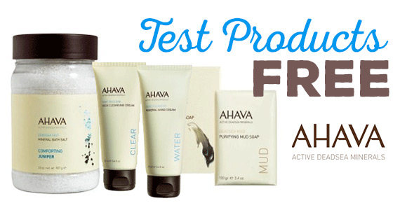 Become An AHAVA Product Tester