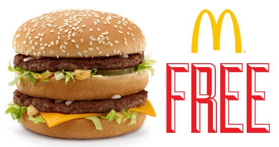 Free McDonald's Sandwich