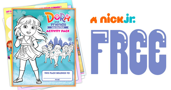 Free Dora And Friends Activity Pack