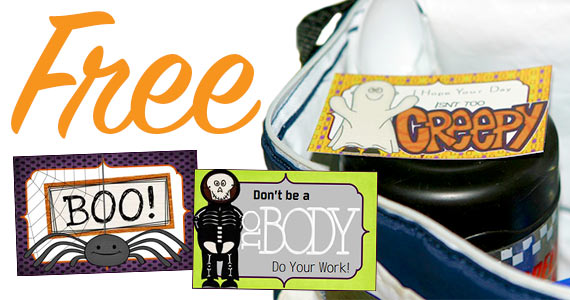 Free Fall And Halloween Lunchbox Notes