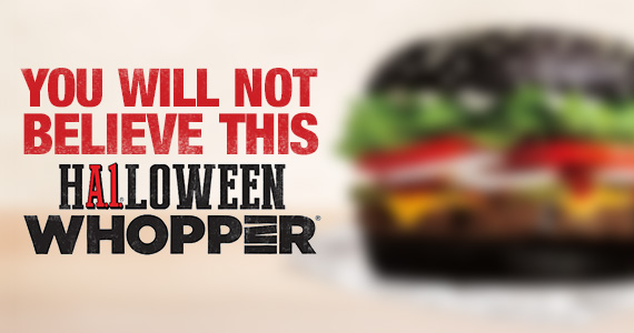 Would You Eat This Halloween Whopper From BK?