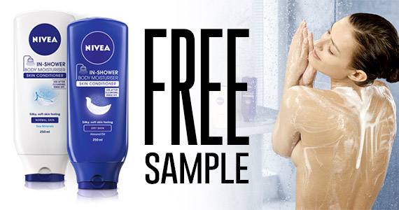Free Nivea Nourishing In-Shower Body Lotion Sample