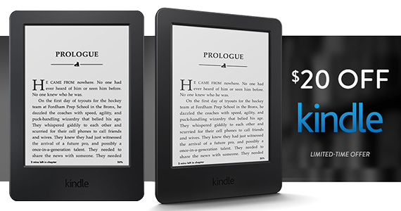 GREAT DEAL – Save $20 OFF Amazon Kindle