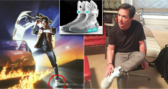 Watch Michael J. Fox Model The First Self-Lacing Nikes