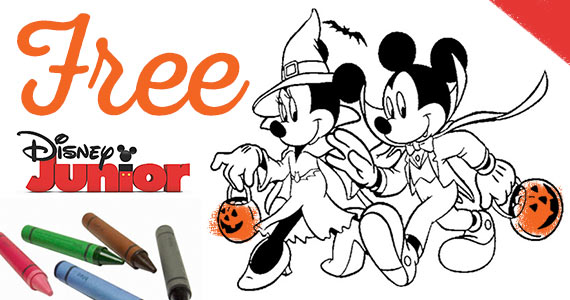 Free Mickey And Mini Halloween Coloring Pages