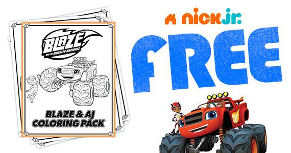 Free Printable Blaze & AJ Coloring Pack