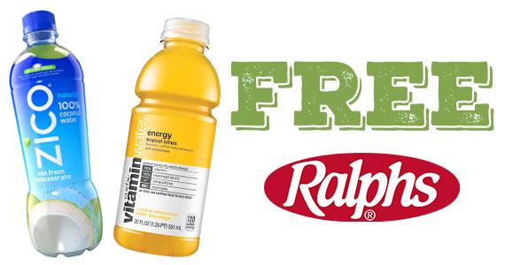 Free Vitamin Water or ZICO Coconut Water At Ralphs