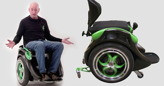 He Invented a Wheelchair Straight Out of the Future