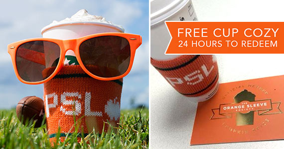 FREE Starbucks PSL Knitted Cup Cozy