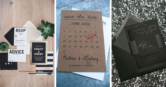 14 Gorgeous Wedding Invitations & Save The Dates