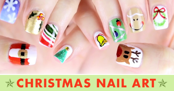 6 Christmas Nail Art Tutorials You Can Do Yourself