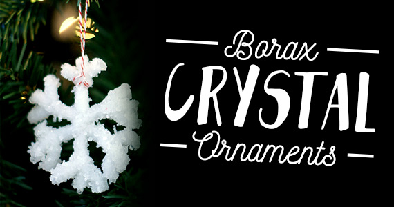 Borax Crystal Ornaments