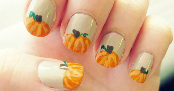 Cute Thanksgiving Nail Art