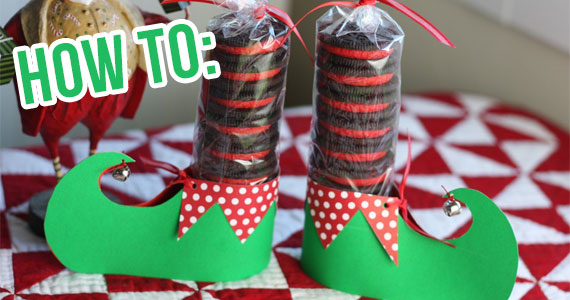 DIY Elf Shoe Treat Holder