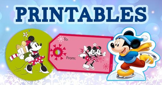 Free Disney Christmas Printables