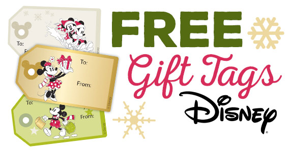 Free Mickey & Friends Christmas Gift Tags