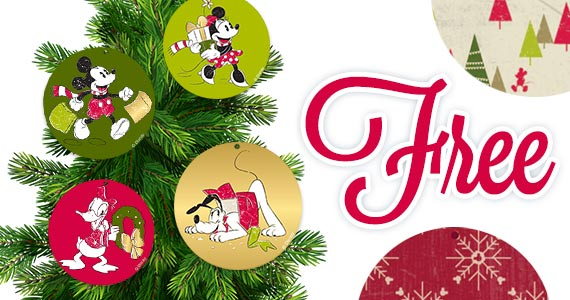 Free Printable Mickey & Friends Holiday Garland