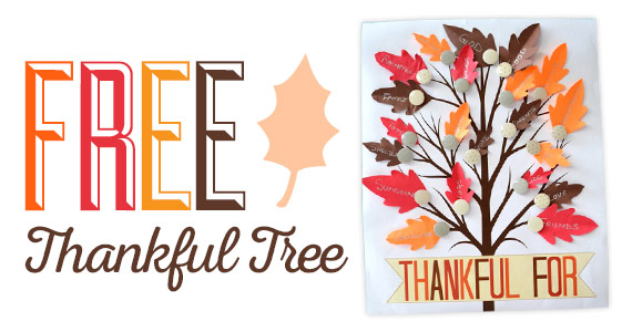 Free Printable Thankful Tree