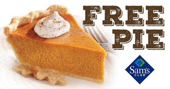 Free Slice Of Pumpkin Pie From Sam's Club