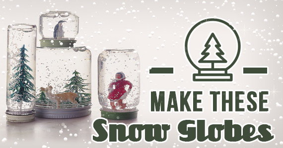Learn How To Make These Adorable Snow Globes