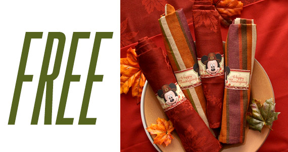 Mickey Mouse Thanksgiving Napkin Rings