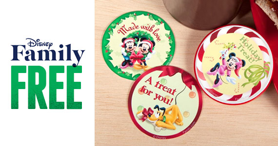 Free Mickey and Friends Holiday Treat Labels