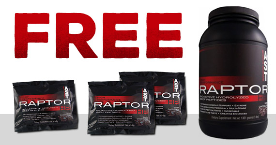 Free Sample Of Raptor-HP Protein Powder
