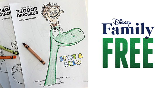 Free The Good Dinosaur Coloring Pages